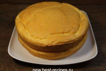Как приготовить мягкий и пышный бисквит. Никогда не опадает!