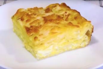 Ленивый пирог с сыром за 7 минут.