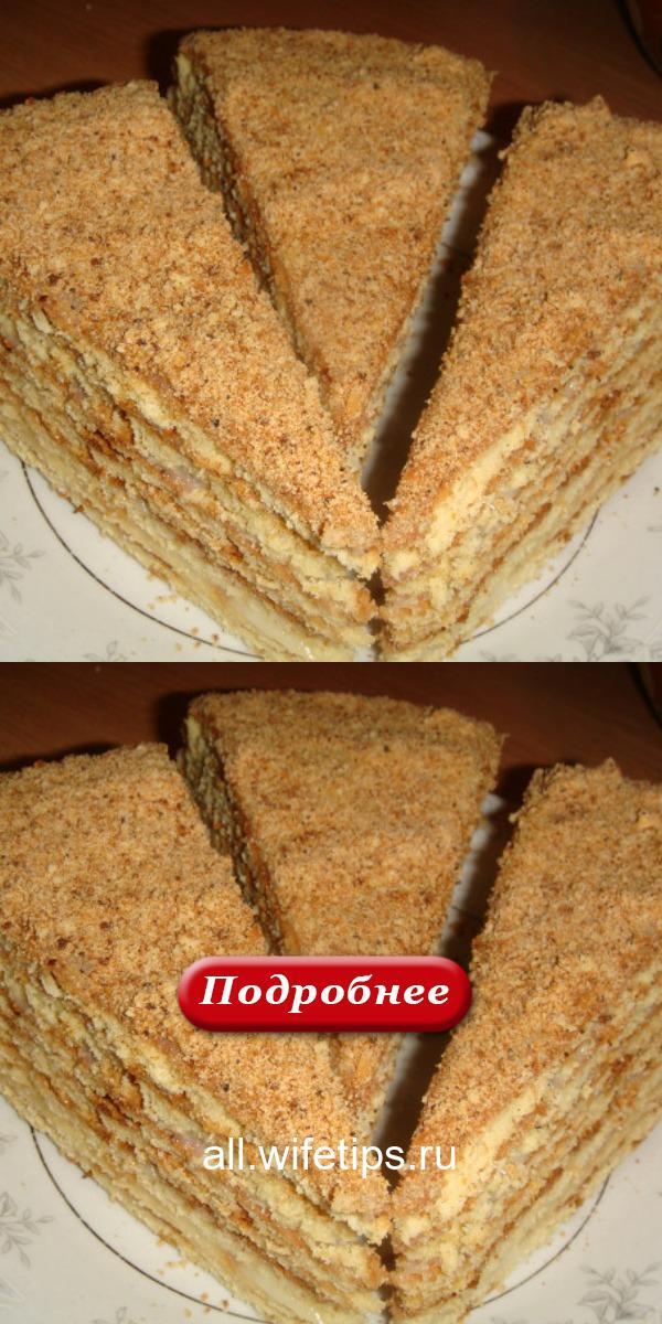 Вкусный, нежный, мягкий торт «Медовый без раскатки коржей» (лайт) – тает во рту!